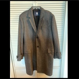 Lands' End Wool Houndstooth Overcoat (Size L)